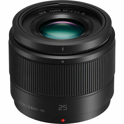 Nuevo Panasonic Lumix G 25Mm F/1.7 Asph Objetivo Negro Black Micro Four Thirds