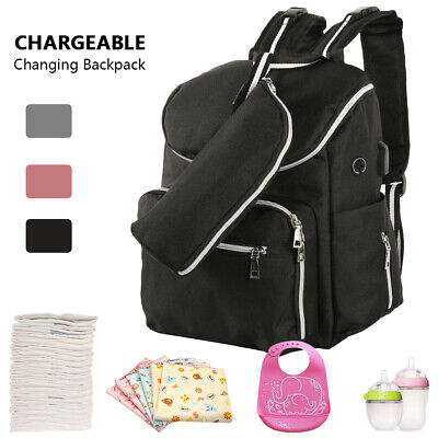 Maternity Baby Bag Nappy Diaper Changing Backpack Mummy Rucksack Multi Function