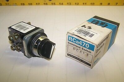 New Fuji Electric Rca470 4 Position Maintained Selector Switch Pc412