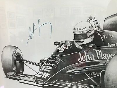 Ayrton Senna  Signed, Alan Stammers Lithography