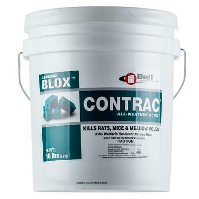 Contrac Blox Rodenticide 18 Lbs Rodent Bait Rat Bait Mouse Bait Bromadiolone