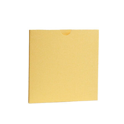 Yellow Pearlescent Pocket fold Wallets with Envelopes. DIY Wedding Invitations