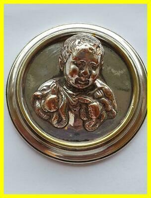 Hercules As Infant Wrestling The Snakes Victorian Large Paperweight, Elkington?