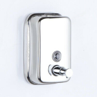 Wall Mounted 500ML Soap Dispenser Stainless Steel Manual Hand Soap Bottle