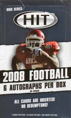 2008 Sage Hit Football High Series Hobby Box