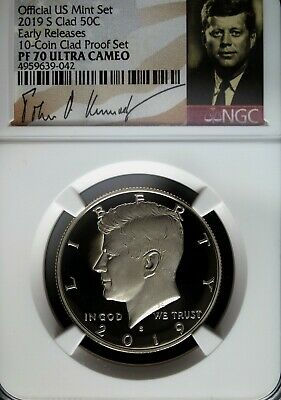 2019 S NGC PF 70 UCAM Clad Kennedy Half Dollar ☆☆ Early Release ☆☆ Signature