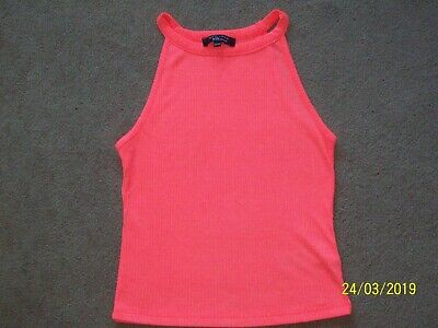 NEW LOOK 915 GENERATION Sleeveless Ribbed T Shirt age 12-13 vgc