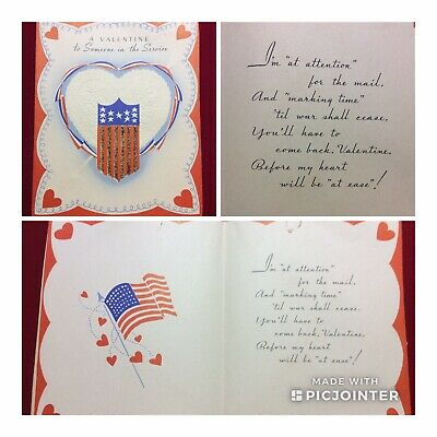 WWII US Soldier Unused Novelty Greeting Card~A Valentine (aG)