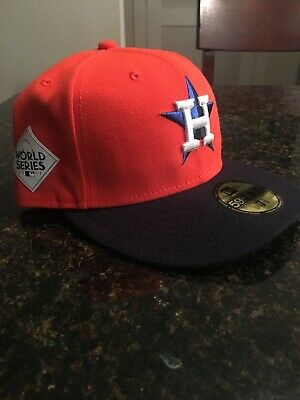 sale retailer 9e676 cb3bf Houston Astros 2017 World Series New Era 59Fifty Fitted Men s 7 5 8 Cap Hat