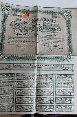 25 Actions The Cassinga Concessions 1903 Angola