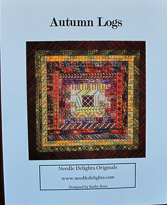 Needle Delights Originals Autumn Logs Counted Needlepoint Chart/Pattern
