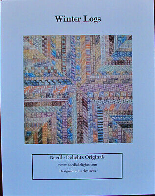 Needle Delights Originals Winter Logs Counted Needlepoint Chart/Pattern
