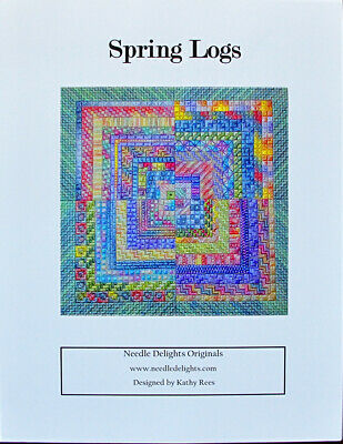 Needle Delights Originals Spring Logs Counted Needlepoint Chart/Pattern