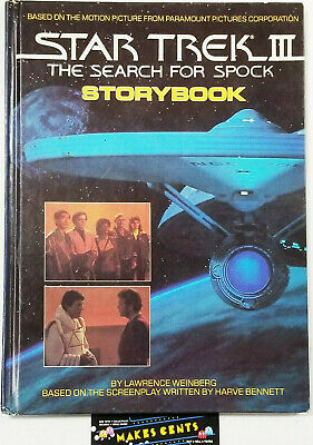 1984 STAR TREK lll - The Search For Spock Storybook Hardcover Book Vintage