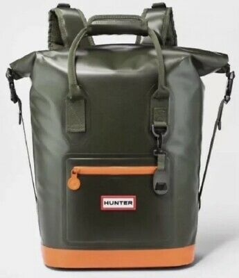 58c3a8efdd5 HUNTER For Target Cooler Backpack ~ Green Orange ~ Waterproof New With Tags
