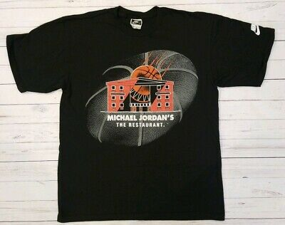 9edadd33371f Vintage VTG Men s Nike Michael Jordan s The Restaurant Shirt Med Chicago  Bulls