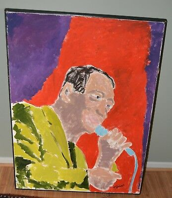 "JOHN TORRES LARGE PAINTING AFRICAN AMERICAN ARTIST  FRAMED 30.4"" x 41.25"" inches"