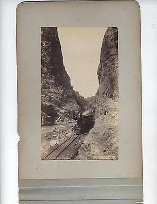 Antique William Henry Jackson Railroad Photographs western Colorado River RARE!