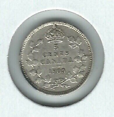 Canada Five Cents silver 1905 AU
