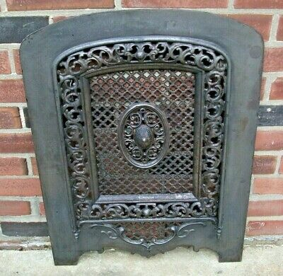 "SUMMER Fireplace Cover - Lots of Architectural  Detail 20"" x 27"" approx."