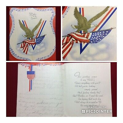 WWII US Soldier Novelty Greeting Card~To My Brother (aT)