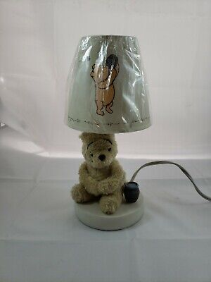 Disney My Friend Pooh Nursery Lamp and Shade, Sage/Ivory