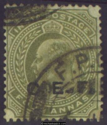 1911 India China Expedition Force 4a Olive-Green, SG C17 used