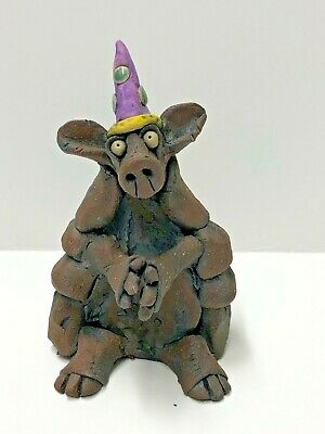 Original One Of A Kind Ceramic Party Animal by Jennifer Rudkin