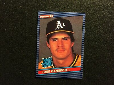 1986 Donruss Jose Canseco Oakland Athletics 39 Baseball