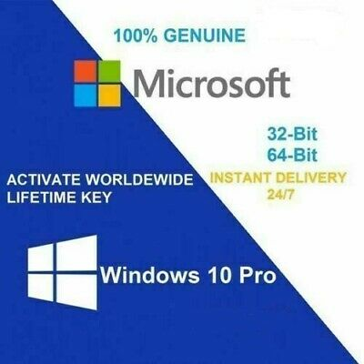 Microsoft Windows 10 Pro Download and 32/64bit Genuine  Key.... Instant Delivery