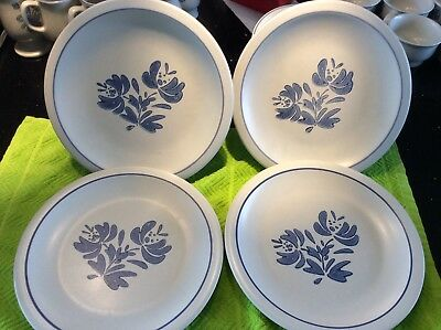 "Pfaltzgraff YORKTOWNE Stoneware 10.25"" Dinner Plates Lot Of 4 Lightly used"