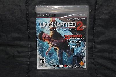 Uncharted 2: Among Thieves (PlayStation 3, PS3) New Sealed Black Label!