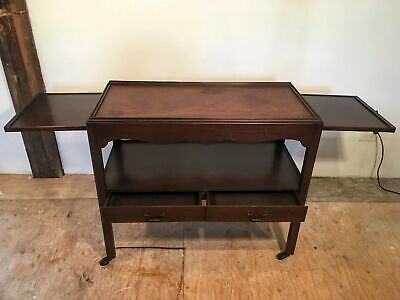 1930s Mahogany serving table bar kitchen cart