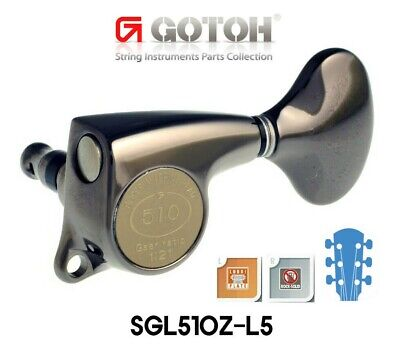 Gotoh SGL510Z-L5 1:21 Gear ratio L3+R3 machine heads w/screws CosmoBlack
