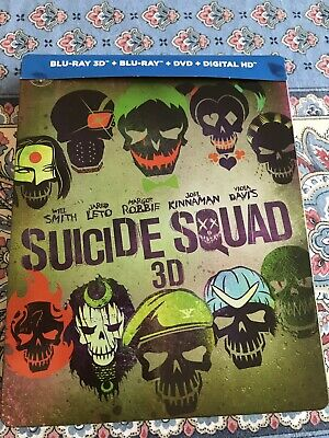 Steelbook Suicide Squad bluray  3D + Blu-ray+dvd Comme Neuf.