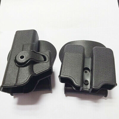 Tactical Double Magazine Pouch Mag Holsters Pistol Holde Pouch Hunting Combo Set