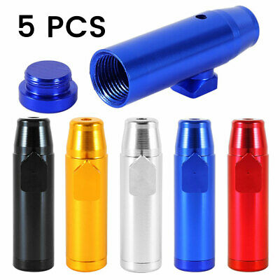 5PCS Snuff Bullet Bottle Metal Rocket Powder Dispenser Snorter Snuffer Vial Tube