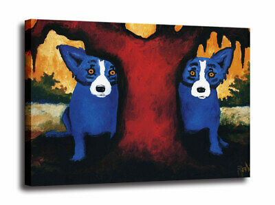 Blue Dog cartoon art HD print canvas picture home decor wall art painting 16X20