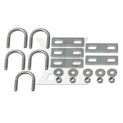 304 Stainless Steel U-Bolt Suitable for 22mm Dia Tube Set of 5 Silver