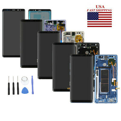 For Samsung Galaxy Note 8 N950 Display LCD Screen Touch Digitizer Frame Replace