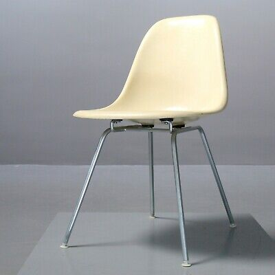 Vintage Eames Fiberglass Chair Charles & Ray Eames Vitra Herman Miller parchment