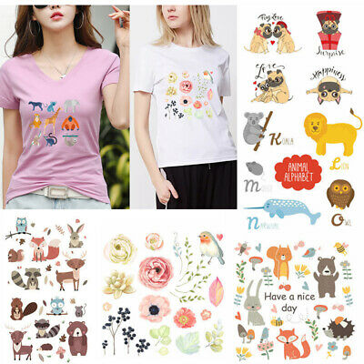 Washable Cartoon Cute Little Fox Ironing Sticker Small Squirrel Animal Patches