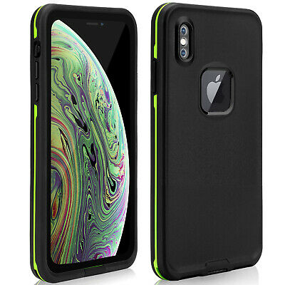 For iPhone Xs Max Waterproof Case Support Wireless Charging SnowProof ShockProof