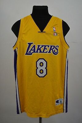 9842be4d89d Mens Vintage Champion Kobe Bryant LA Lakers Basketball Jersey XL Spell Out 8