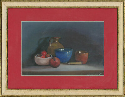 N. Willaume - Framed 20th Century Acrylic, Still Life with Apples