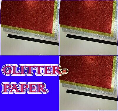 Glitter sparkle gift wrapping sheets perfect for 69x49cm size glitter paper .
