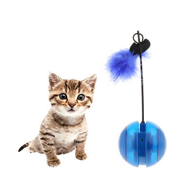 Pet Electric Cat Toy Interactive Toy Multi Function Kitten Ball Tumbler