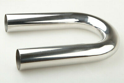 """UK  2/"""" Inch 180 Degree Stainless Steel Intercooler Piping Mandrel Bend L=610mm"""