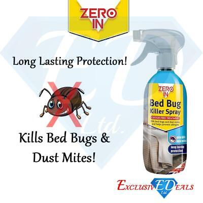 Zero In 500ml Bed Bug Killer Spray - Kills Bed Bugs And Dust Mites, Long Lasting