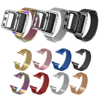 For Apple Watch Series 4/3/2 Milanese Stainless Steel Band Strap 38mm/42/44/40